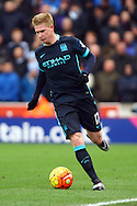 Kevin De Bruyne of Manchester City in action. Barclays Premier league match, Stoke city v Manchester city at the Britannia Stadium in Stoke on Trent, Staffs on Saturday 5th December 2015.<br /> pic by Chris Stading, Andrew Orchard sports photography.