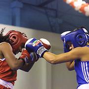 2. WOMEN'S WORLD BOXING CHAMPIONSHIPS.<br /> Swede's Wayber FRIDA (R) with Brasil's Santos Ana (L) after the match. Dilek Sabanci Sport Hall Antalya/Turkey<br /> Photo by Aykut AKICI/TurkSporFoto