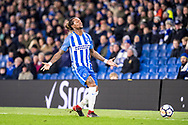 Brighton and Hove Albion (3) Gaëtan Bong during the The FA Cup 3rd round match between Brighton and Hove Albion and Crystal Palace at the American Express Community Stadium, Brighton and Hove, England on 8 January 2018. Photo by Sebastian Frej.