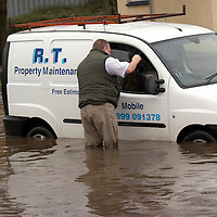 Scotland, 14th December  2006 - Floodings in several parts of Central Scotland and Perthshire  after heavy rain . More bad weather and floodings are expected during the week end.  A total of 14 th Flood warnings have been issued today by SEPA<br />