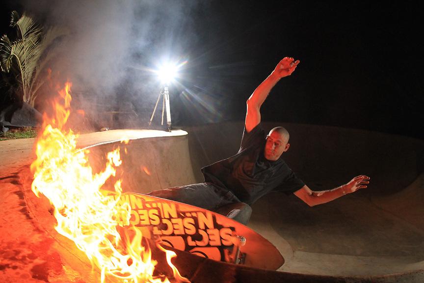 Skateboarding Dave Langer