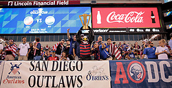July 19, 2017 - Philadelphia, PA, USA - Philadelphia, PA - Wednesday July 19, 2017: American Outlaws during a 2017 Gold Cup match between the men's national teams of the United States (USA) and El Salvador (SLV) at Lincoln Financial Field. (Credit Image: © John Dorton/ISIPhotos via ZUMA Wire)