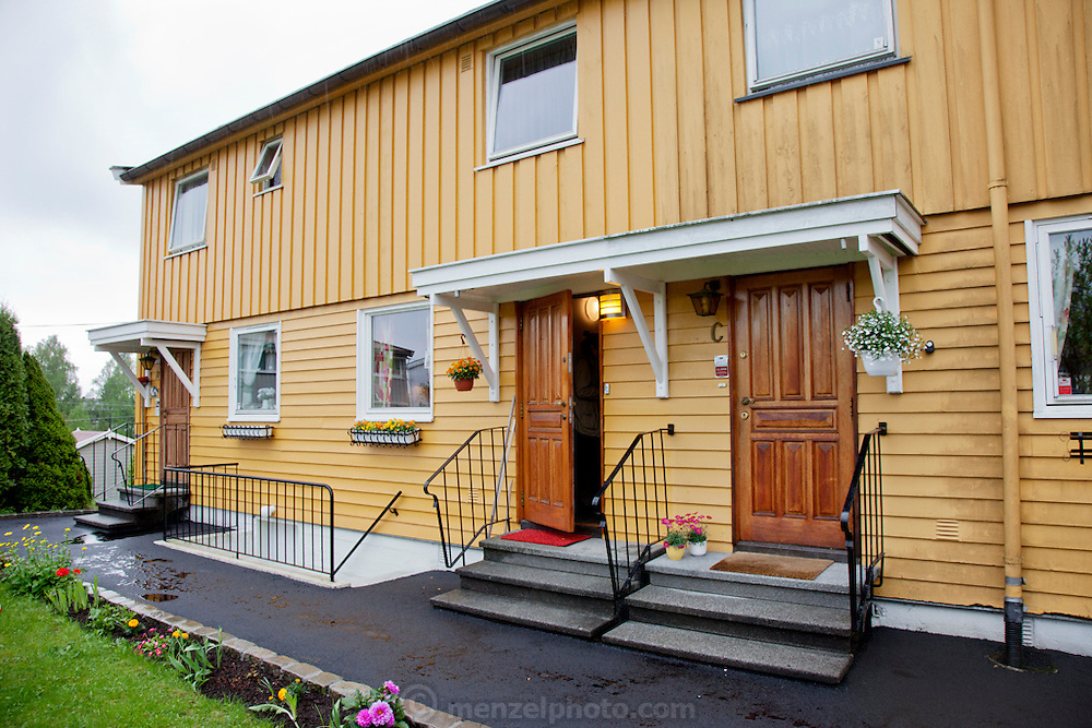 Rented apartment of Ottersland Dahl family, of Gjettum, Norway (outside Oslo).