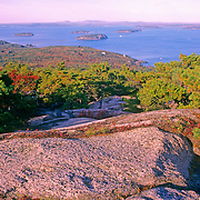 View of Frenchman's Bay. Acadia National Park. Mount Desert Island. Maine