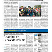 """Tearsheet of """"Donetsk prepares for secession"""" published in Expresso"""
