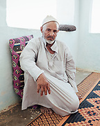 Mertah Shaykh was injured in the 1970s while grazing his goats in the desert. The unexploded ordnance was detonated by a campfire. Mertah lost the tips of two fingers from his right hand and his eyesight was permanently impaired. Until five years ago he assisted the army in the clearance operation.