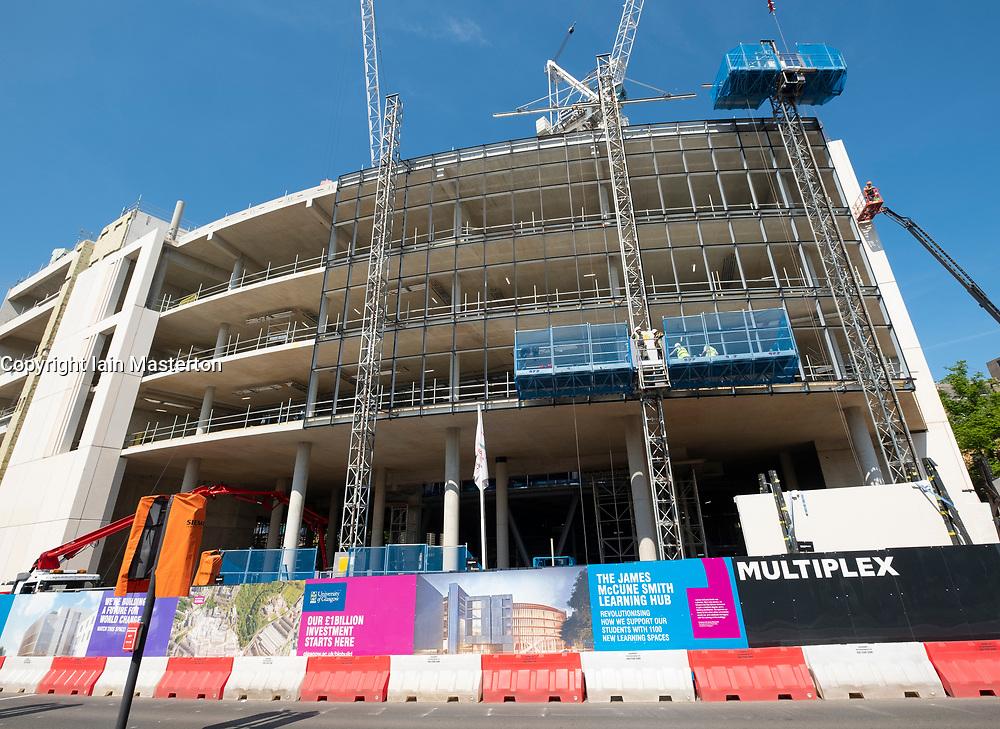 Construction Site of new James McCune Smith Learning Hub at Glasgow university, Scotland, UK
