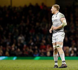 Ospreys' Bradley Davies<br /> <br /> Photographer Simon King/Replay Images<br /> <br /> Guinness PRO14 Round 21 - Cardiff Blues v Ospreys - Saturday 28th April 2018 - Principality Stadium - Cardiff<br /> <br /> World Copyright © Replay Images . All rights reserved. info@replayimages.co.uk - http://replayimages.co.uk