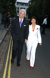 KEN FOLLETT and his wife BARBARA FOLLETT at Sir David & Lady Carina Frost's annual summer party held in Carlyle Square, Chelsea, London on 5th July 2006.<br /><br />NON EXCLUSIVE - WORLD RIGHTS
