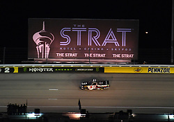March 1, 2019 - Las Vegas, NV, U.S. - LAS VEGAS, NV - MARCH 01: Kyle Busch (51) KBM Toyota Tundra drives underneath The Strat billboard in turn 2 during the NASCAR Gander Outdoors Truck Series Strat 200 on March 01, 2019, at Las Vegas Motor Speedway in Las Vegas, NV. (Photo by Chris Williams/Icon Sportswire) (Credit Image: © Chris Williams/Icon SMI via ZUMA Press)