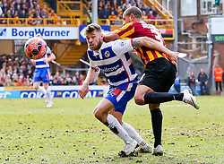 Bradford City's James Meredith challenges Reading's Jamie Mackie - Photo mandatory by-line: Matt McNulty/JMP - Mobile: 07966 386802 - 07/03/2015 - SPORT - Football - Bradford - Valley Parade - Bradford City v Reading - FA Cup - Quarter Final