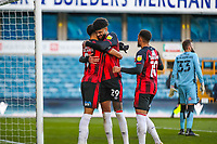 Football - 2020 / 2021 Sky Bet (EFL) Championship - Millwall vs AFC Bournemouth  - The Den<br /> <br /> Philip Billing (AFC Bournemouth) congratulates goalscorer Dominic Solanke (AFC Bournemouth) <br /> <br /> COLORSPORT/DANIEL BEARHAM