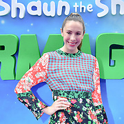 Samantha Murray attend the Shaun the Sheep Movie: Farmageddon, at ODEON LUXE on 22 September 2019,  London, UK.