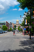 Images from a walk along the Des Moines River in downtown Des Moines, Iowa, USA, July, 2019.