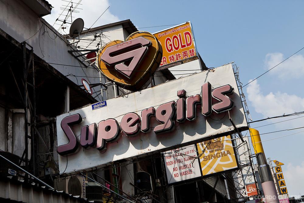 Supergirls sign in Bangkok's Chinatown