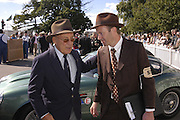 Sir Stirling Moss and Darren Smith, Goodwood Revival Meeting. Saturday 17 September 2005.  ONE TIME USE ONLY - DO NOT ARCHIVE  © Copyright Photograph by Dafydd Jones 66 Stockwell Park Rd. London SW9 0DA Tel 020 7733 0108 www.dafjones.com
