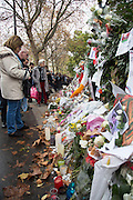People gather to pay there respects in Paris where the attacks took place last friday<br /> ©Exclusivepix Media