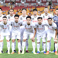 BRISBANE, AUSTRALIA - FEBRUARY 21: Muangthong United players pose for a photo during the Asian Champions League Group Stage match between the Brisbane Roar and Muangthong United FC at Suncorp Stadium on February 21, 2017 in Brisbane, Australia. (Photo by Patrick Kearney/Brisbane Roar)