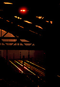 Sunrise, Williamsburg Bridge, New York City, New York, USA, November 1983
