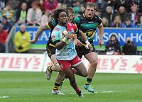 Rugby Union - 2016 / 2017 Aviva Premiership - Northampton vs. Harlequins<br /> <br /> Marland Yarde of Harlequins at Franklin's Gardens.<br /> <br /> COLORSPORT/ANDREW COWIE