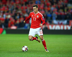 October 9, 2017 - Cardiff City, Walles, United Kingdom - Tom Lawrence of Wales .during FIFA World Cup group qualifier match between Wales and Republic of Ireland at the Cardiff City Stadium, Cardiff, Wales on 9 October 2017. (Credit Image: © Kieran Galvin/NurPhoto via ZUMA Press)