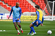 Josh Parker of Gillingham (14) warming up during the EFL Sky Bet League 1 match between Doncaster Rovers and Gillingham at the Keepmoat Stadium, Doncaster, England on 20 October 2018.