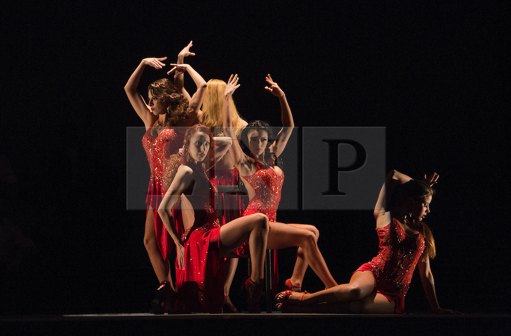 """© Licensed to London News Pictures. 30/01/2013. London, England. Scene: Verano Porteño. The show """"FLAMES OF DESIRE"""" by the Argentine dance company """"TANGO FIRE"""" opens at the Peacock Theatre, London for a run to 24 February 2013. Photo credit: Bettina Strenske/LNP"""