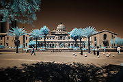 Infrared (IR) image - Pima County Courthouse.  This historical building is striking in infrared and in color.