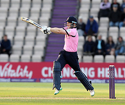 Middlesex's Eoin Morgan strikes the ball - Photo mandatory by-line: Robbie Stephenson/JMP - Mobile: 07966 386802 - 04/06/2015 - SPORT - Cricket - Southampton - The Ageas Bowl - Hampshire v Middlesex - Natwest T20 Blast