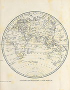 Eastern Hemisphere Old World Copperplate engraving From the Encyclopaedia Londinensis or, Universal dictionary of arts, sciences, and literature; Volume VIII;  Edited by Wilkes, John. Published in London in 1810.