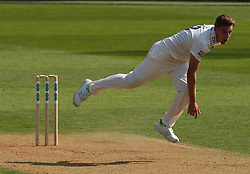 April 20, 2018 - London, Greater London, United Kingdom - Brad Wheal of Hampshire ccc  .during Specsavers County Championship - Division One, day one match between Surrey CCC and Hampshire CCC at Kia Oval, London, England on 20 April 2018. (Credit Image: © Kieran Galvin/NurPhoto via ZUMA Press)