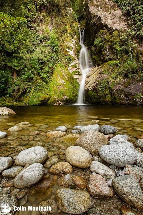 Dorothy falls, near Lake Kaniere, Hokitika district, West Coast, New Zealand