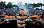 DJ Fatboy Slim at H2O water park, Johannesburg, South Africa.