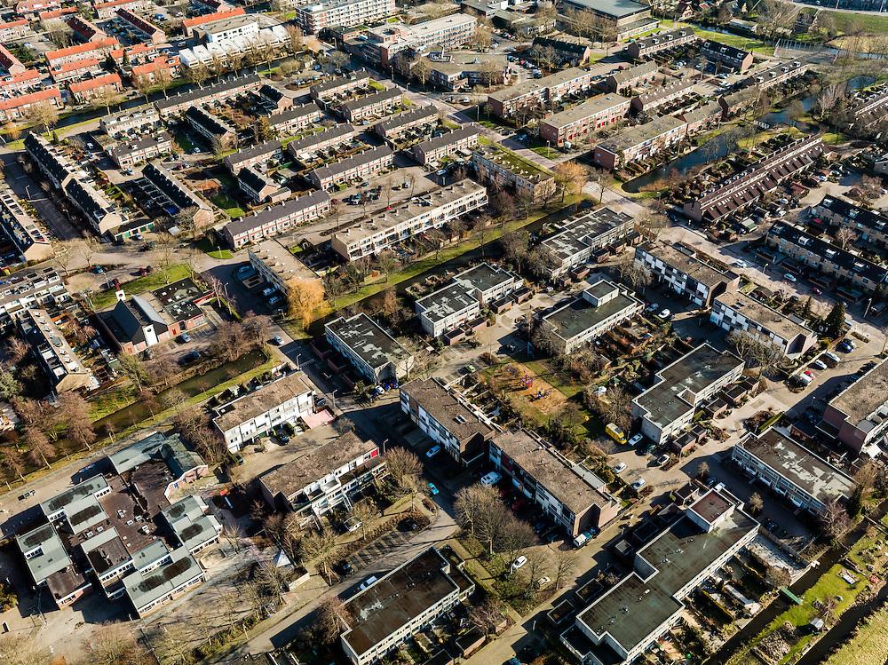 Nederland, Zuid-Holland, Gemeente Lekkerkerk, 20-02-2012; Lekkerkerk-West,  de wijk is bekend van het gifschandaal uit de jaren '80.QQQ.luchtfoto (toeslag), aerial photo (additional fee required);.copyright foto/photo Siebe Swart.