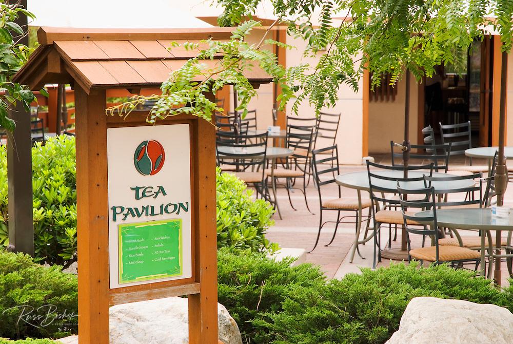 The Tea Pavilion at the Japanese Friendship Garden in Balboa Park, San Diego, California