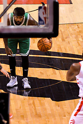 October 19, 2018 - Toronto, Ontario, Canada - Kyrie Irving #11 of the Boston Celtics dribbles the ball during the Toronto Raptors vs Boston Celtics NBA regular season game at Scotiabank Arena on October 19, 2018 in Toronto, Canada (Toronto Raptors win 113-101) (Credit Image: © Anatoliy Cherkasov/NurPhoto via ZUMA Press)