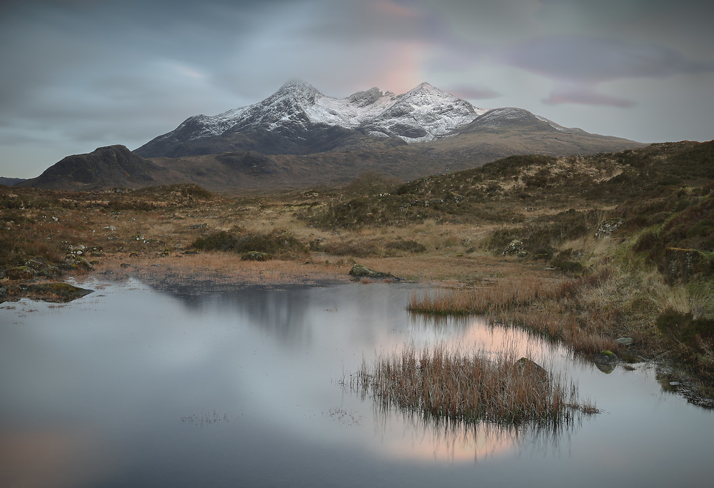Evening shadows deepen over a particularly magical corner of the Isle of Skye.