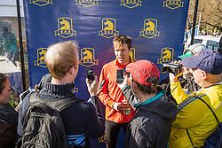 BAA 5K road race Ben True press zone