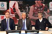 Marco Borroni, Stefano Santini e Gabriele Romagnoli, Presentazione POSTEMOBILE Final Eight 2017 - Rimini 16-19 fabbraio 2017 - studi RAI, Milano 23 gennaio 2017