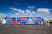 Aug 9, 2010 - SUN CITY WEST, AZ: The Spending Revolt bus in Sun City West, AZ. The Spending Revolt Bus stopped in Sun City West, a retirement community northwest of Phoenix, Monday. Spending Revolt is a new coalition of taxpayers and business owners concerned about government spending. The bus is attracting Republican and Tea Party affiliated candidates to its events. The bus has crisscrossed Nevada, California and Arizona and is heading east to Washington DC.   Photo by Jack Kurtz / ZUMA Press