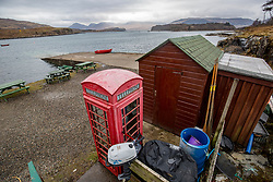 View from the Boathouse restaurant. Feature on the community on the island of Ulva, who have been awarded £4.4m in funding for their island buyout.