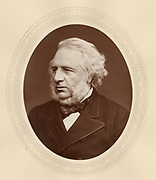 'Charles Reed  (1819-1881),c1880) English typefounder, Liberal politician and philanthropist, Member of Parliament for Hackney 1868-1874, Chairman of the London School Board.'