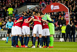 March 26, 2019 - Oslo, NORWAY - 190326 The players of Norway ahead of the UEFA Euro qualifier football match between Norway and Sweden on March 26, 2019 in Oslo..Photo: Jon Olav Nesvold / BILDBYRÃ…N / kod JE / 160435 (Credit Image: © Jon Olav Nesvold/Bildbyran via ZUMA Press)