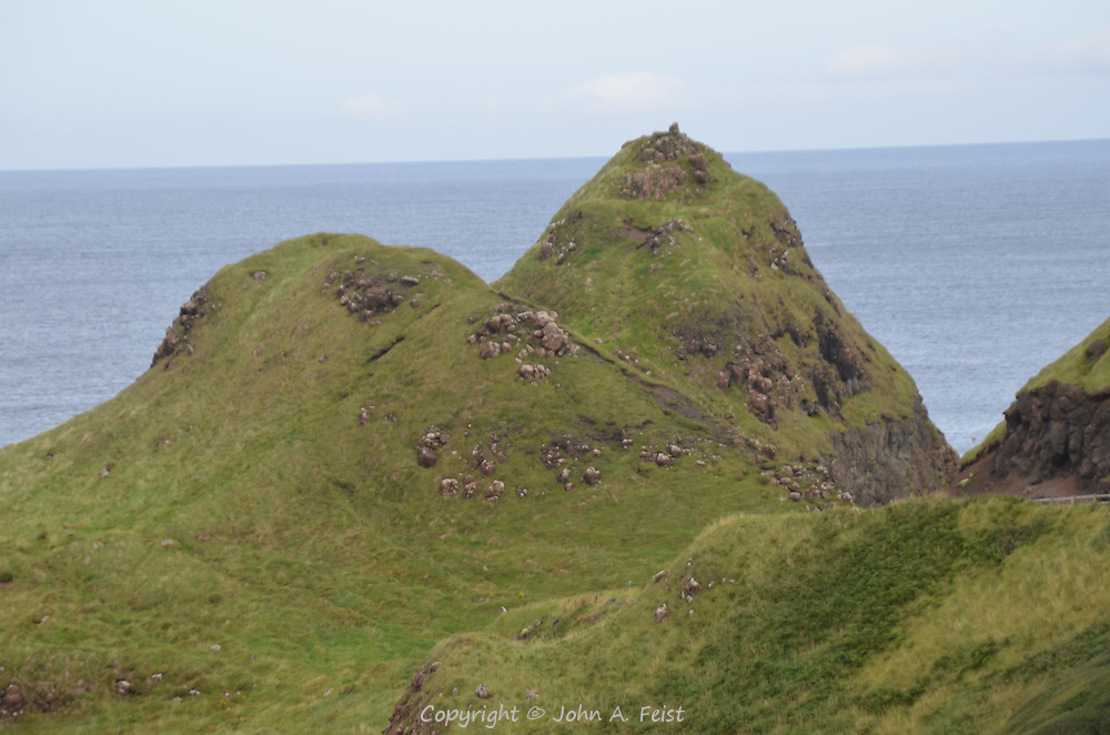 Two mounds along the approach to the Giant's Causeway, County Antrim, Northern Ireland