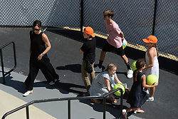 KEY BISCAYNE, FL - APRIL 01 : Victoria Beckham and David Beckham seen watching John Isner Vs Alexander Zverev during the mens final during the 2018 Miami Open at Crandon Park Tennis Center on April 1, 2018 in Key Biscayne, Florida. CAP/MPI04 ©MPI04/Capital Pictures. 01 Apr 2018 Pictured: Victoria Beckham, Romeo Beckham, Cruz Beckham, Harper Beckham. Photo credit: MPI04/Capital Pictures / MEGA TheMegaAgency.com +1 888 505 6342