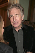 ALAN RICKMAN, PARTY AT DARTMOUTH HOUSE AFTER A PREMIERE SCREENING OF PERFUME AT THE CURZON. LONDON.<br />