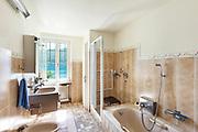 interior of old house, nice domestic bathroom
