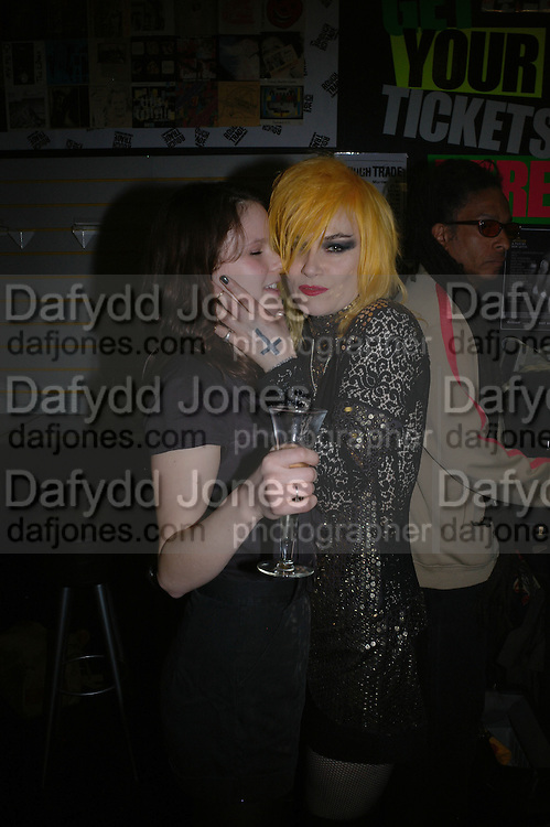 Rachel simon and Pam Hogg. Future Punk Launch party at Selfridges, Oxford St. : 9th March. ONE TIME USE ONLY - DO NOT ARCHIVE  © Copyright Photograph by Dafydd Jones 66 Stockwell Park Rd. London SW9 0DA Tel 020 7733 0108 www.dafjones.com