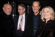 STEVEN BERKOFF; JEREMY IRONS; RICHARD E. GRANT; SINEAD CUSACK, Liberatum Cultural Honour for Francis Ford Coppola<br /> with Bulgari Hotel & Residences, London. 17 November 2014