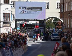 26.09.2018, Innsbruck, AUT, UCI Straßenrad WM 2018, Einzelzeitfahren, Elite, Herren, von Rattenberg nach Innsbruck (54,2 km), im Bild Jan Barta (CZE) // Jan Barta of Cech Republic during the men's individual time trial from Rattenberg to Innsbruck (54,2 km) of the UCI Road World Championships 2018. Innsbruck, Austria on 2018/09/26. EXPA Pictures © 2018, PhotoCredit: EXPA/ Reinhard Eisenbauer